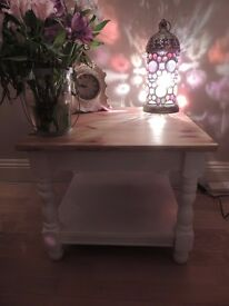 Shabby Chic Coffee Table With Magazine Shelf