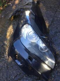 BMW X5 2007 2008 2009 2010 2011 headlight and wing right hand side xenon can post