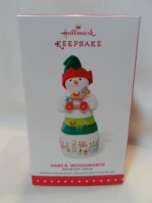 2015 Hallmark Keepsake Ornament Hans K Woodsworth Snowtop Lodge #11 B6
