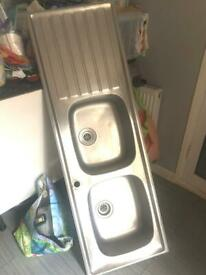£200 reduced to £30ono, Double Stainless Sink