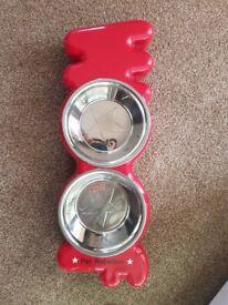 WOOF Double Dog Bowl