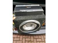Car subwoofer and vibe amp very loud