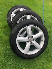 """19"""" wheels & tyres came of Audi Q5 five stud will fit other cars"""