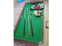 Pool/Snooker table 6x3 ft