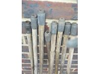 Vintage Bamboo Chimney Sweep Rods 4ft x8