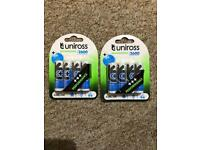 16 x Uniross AA 2600 mAh Rechargeable Batteries NiMH - HR6, LR6, DC1500, MN1500