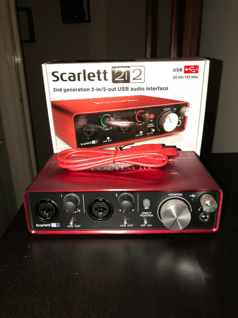 Focusrite Scarlett 2i2 (2nd Gen) USB 2 0 Audio Interface | in Bargeddie,  Glasgow | Gumtree