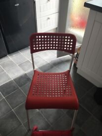 Kids Ikea Red Chair excellent condition comes with attachable red cushion
