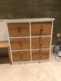 6 Drawer Unit and Double Wardrobe with Large Under Drawers