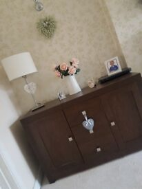 Beautiful Sideboard and matching lamptables / nest of tables