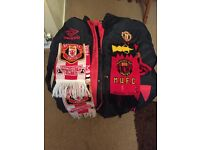 Manchester United Coat and 2 Scarfs