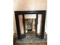 Cast Iron fireplace framework