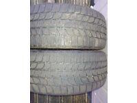 2 Bridgestone Blizzak LM-25 winter tyres 205 45 R17 82V 6mm tread depth run flats BMW