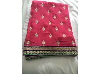A beautiful deep pink saree in pure chiffon fabric