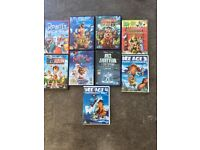 9 x children's dvd selection / bundle