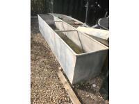 Metal trough