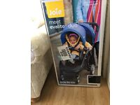 Brand new never used double buggy in all black