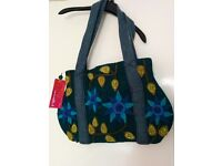 NEW shoulder/hand bag, fair trade Namaste, felt flowers £20 ono (RRP £35)