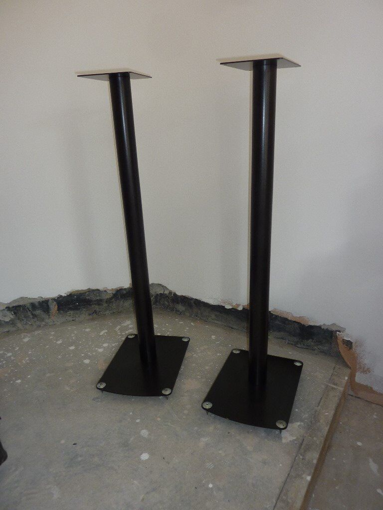 Pixel T80 Tall Speaker Stands with spikes - 33 inches high