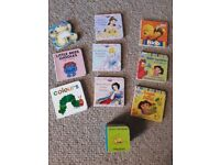Selection of 9 small board books
