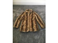 Women's new look leopard print coat size 12