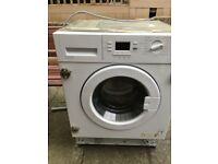 washing machine fully intergrated takes std 600 door howdens HJA8501 7kg A+ rated 1400 rpm