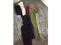 Bundle of clothes , tops , cardigans