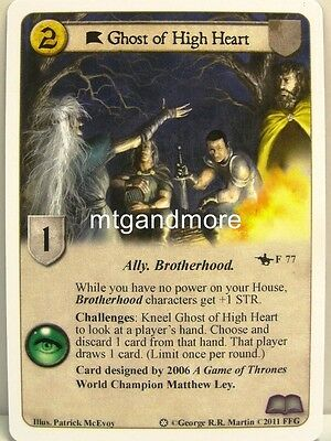 Ghost Game Of Thrones (A Game of Thrones LCG - 1x Ghost of High Heart #077 - Ice and Fire Draft Pack)