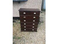 Wooden dresser chest drawer for renovation