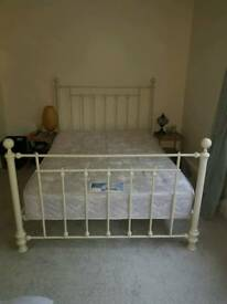 Standard double bed frame (Next) and optional mattress