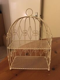 Beautiful cream ornamental two tier stand for sale