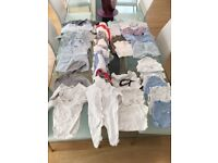 Bag of baby clothes size 0-3 months