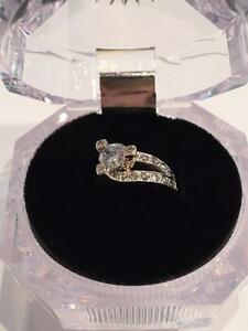 #1102 14K Y/W/G Ladies Engagement Ring