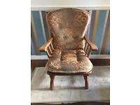 Wooden Chair with Cushions