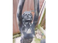 4foot fibreglass Water feature of a women