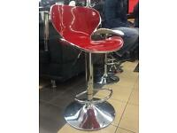 High gloss red swirl chair (red+chrome)