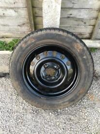 "15"" 4x114.3 steel wheel with new 195/60/15 tyre"