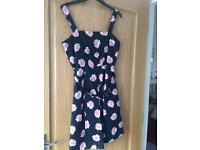 Red Herring black & pink flower dress