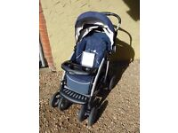 Graco Quattro Travel System with matching Junior O Baby Car Seat and Base.