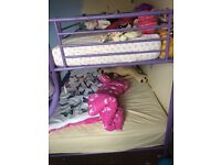 Girls double bunk beds twin beds