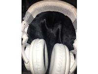 KS white headphones