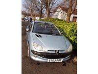 Peugeot 206 Excellent condition Low mileage £550 ono.