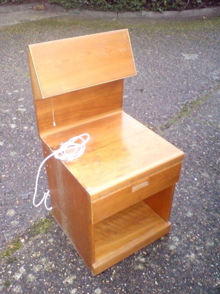 RETRO DANISH 1960's TEAK BEDSIDE TABLE £9
