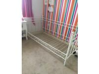 Girls white single bed (French style)