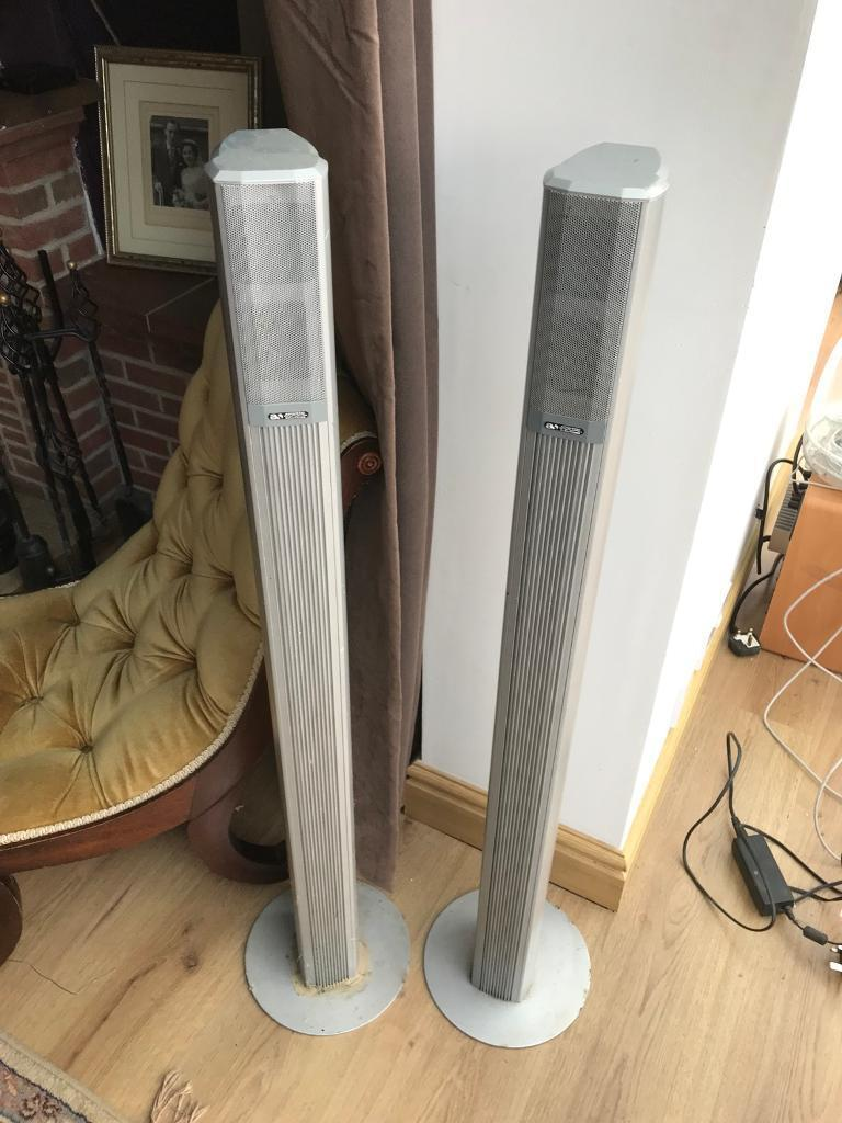 Acoustic solutions rear column speakers x2