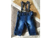 Baby jeans up to 1 month