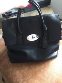 Mulberry Cara Delevigne large blk backpack/Handbag