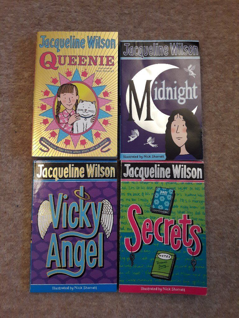 4 Jacqueline Wilson children's paperback books, good condition, kids books