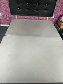 Double divan bed with storage