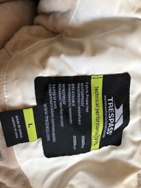 Trespass size L winter coat for sale not used much